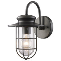 ELK Lighting Portside 1 Light Outdoor Sconce in Matte Black 42284/1
