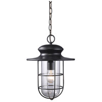 Portside 1 Light 11 inch Matte Black Outdoor Pendant