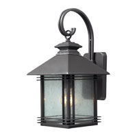 ELK Lighting Blackwell 1 Light Outdoor Sconce in Graphite 42301/1