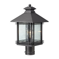 ELK Lighting Blackwell 1 Light Outdoor Post Light in Graphite 42304/1 photo thumbnail