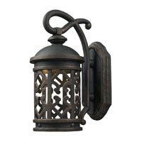 ELK Lighting Tuscany Coast LED Outdoor Sconce in Weathered Charcoal 42360/1