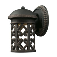 Tuscany Coast LED 9 inch Weathered Charcoal Outdoor Sconce