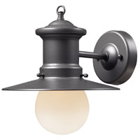 ELK 42405/1 Maritime 1 Light 10 inch Graphite Outdoor Sconce
