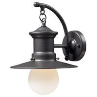 Maritime 1 Light 12 inch Graphite Outdoor Sconce