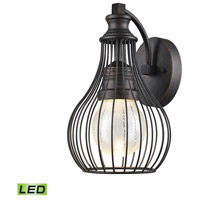 Elk Lighting Osage LED Outdoor Wall Sconce in Weathered Charcoal 42510/LED