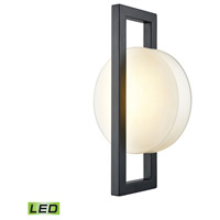 Zulle LED 17 inch Matte Black Outdoor Wall Sconce