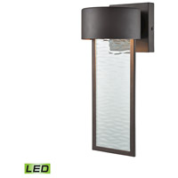 Julius LED 13 inch Clay Bronze Outdoor Wall Sconce