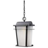 ELK Lighting Hampton Ridge 1 Light Outdoor Pendant in Weathered Charcoal 43007/1