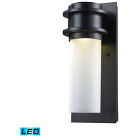 ELK 43010/1 Freeport LED 12 inch Matte Black Outdoor Sconce