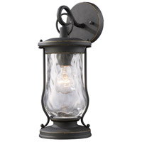 ELK 43016/1 Farmstead 1 Light 14 inch Matte Black Outdoor Wall Sconce