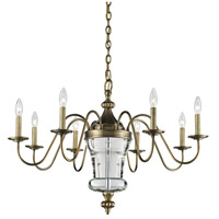 Bensley 8 Light 34 inch Antique Brass Chandelier Ceiling Light