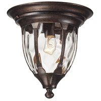 Glendale 1 Light 11 inch Regal Bronze Outdoor Flushmount