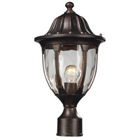 ELK 45005/1 Glendale 1 Light 17 inch Regal Bronze Outdoor Post Mount