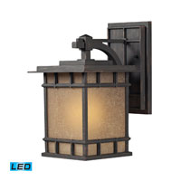 ELK Lighting Newlton 1 Light Outdoor Wall Sconce in Weathered Charcoal 45011/1-LED