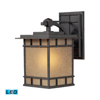 ELK Lighting Newlton 1 Light Outdoor Wall Sconce in Weathered Charcoal 45012/1-LED
