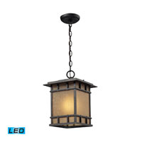 ELK Lighting Newlton 1 Light Outdoor Pendant in Weathered Charcoal 45013/1-LED