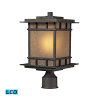 ELK Lighting Newlton 1 Light Outdoor Post Light in Weathered Charcoal 45014/1-LED