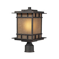 Newlton 1 Light 16 inch Weathered Charcoal Outdoor Post Light in Standard