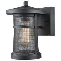 Aspen Lodge 1 Light 9 inch Textured Matte Black Outdoor Wall Sconce