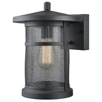 Aspen Lodge 1 Light 11 inch Textured Matte Black Outdoor Wall Sconce