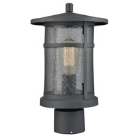 Aspen Lodge 1 Light 13 inch Textured Matte Black Outdoor Post Mount