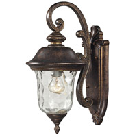 ELK Lighting Lafayette 1 Light Outdoor Wall Sconce in Regal Bronze 45020/1