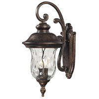 Lafayette 3 Light 27 inch Regal Bronze Outdoor Wall Sconce