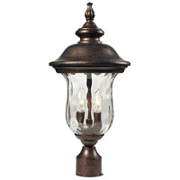 Lafayette 2 Light 21 inch Regal Bronze Outdoor Post Light