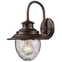 ELK Lighting Searsport 1 Light Outdoor Wall Sconce in Regal Bronze 45030/1 photo thumbnail
