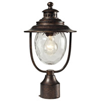 Searsport 1 Light 15 inch Regal Bronze Outdoor Post Light