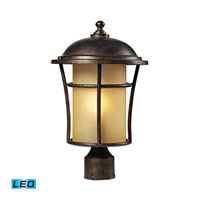 ELK Lighting Bolla Vista 1 Light Outdoor Post Light in Regal Bronze 45038/1-LED