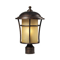ELK Lighting Bolla Vista 1 Light Outdoor Post Light in Regal Bronze 45038/1