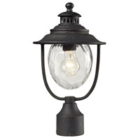 ELK 45042/1 Searsport 1 Light 15 inch Weathered Charcoal Outdoor Post Light photo thumbnail