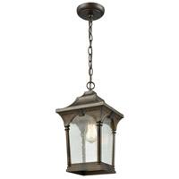 ELK 45047/1 Loringdale 1 Light 8 inch Hazelnut Bronze Outdoor Pendant
