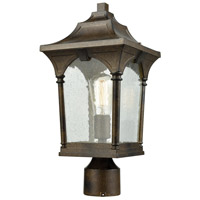 ELK 45048/1 Loringdale 1 Light 17 inch Hazelnut Bronze Outdoor Post Mount