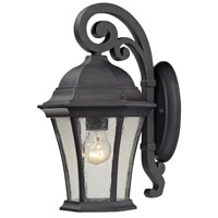 Wellington Park 1 Light 14 inch Weathered Charcoal Outdoor Wall Sconce