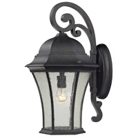 ELK Lighting Wellington Park 1 Light Outdoor Wall Sconce in Weathered Charcoal 45052/1