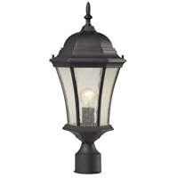 Wellington Park 1 Light 21 inch Weathered Charcoal Outdoor Post Light