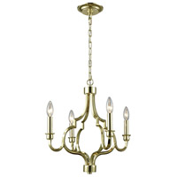 ELK 45055/4 Livonia 4 Light 18 inch Polished Gold Chandelier Ceiling Light
