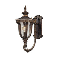 Sturgess Castle 1 Light 17 inch Regal Bronze Outdoor Wall Sconce