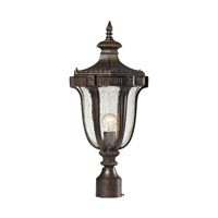 ELK Lighting Sturgess Castle 1 Light Outdoor Post Light in Regal Bronze 45062/1