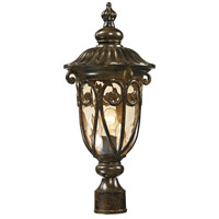 ELK 45073/1 Logansport 1 Light 21 inch Hazelnut Bronze Outdoor Post Mount