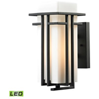 Croftwell LED 12 inch Textured Matte Black Outdoor Wall Sconce