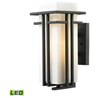 ELK Lighting Croftwell LED Outdoor Wall Sconce in Textured Matte Black 45086/1-LED