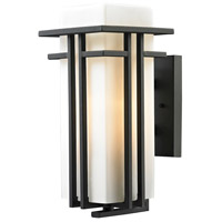 ELK Lighting Croftwell 1 Light Outdoor Wall Sconce in Textured Matte Black 45086/1