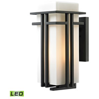 ELK 45087/1-LED Croftwell LED 17 inch Textured Matte Black Outdoor Wall Sconce