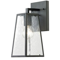 Mediterrano 1 Light 12 inch Textured Matte Black Outdoor Wall Sconce