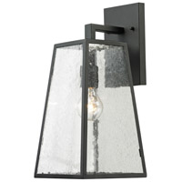 ELK 45091/1 Mediterrano 1 Light 18 inch Textured Matte Black Outdoor Wall Sconce