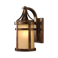 ELK 45095/1 Winona 1 Light 12 inch Hazelnut Bronze Outdoor Wall Sconce in Incandescent