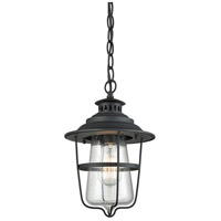 San Mateo 1 Light 8 inch Textured Matte Black Outdoor Pendant